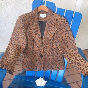 Bloomingdale's Suede Jacket in Size 12